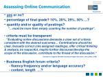 assessing online communication