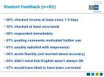 student feedback n 81