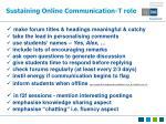 sustaining online communication t role41