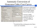 automatic conversion of generator cubic cost curves