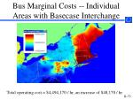 bus marginal costs individual areas with basecase interchange