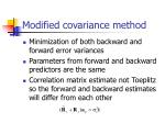 modified covariance method
