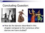 concluding question