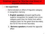 empirical support for whorfian view theory of linguistic similarity cont34