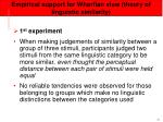 empirical support for whorfian view theory of linguistic similarity