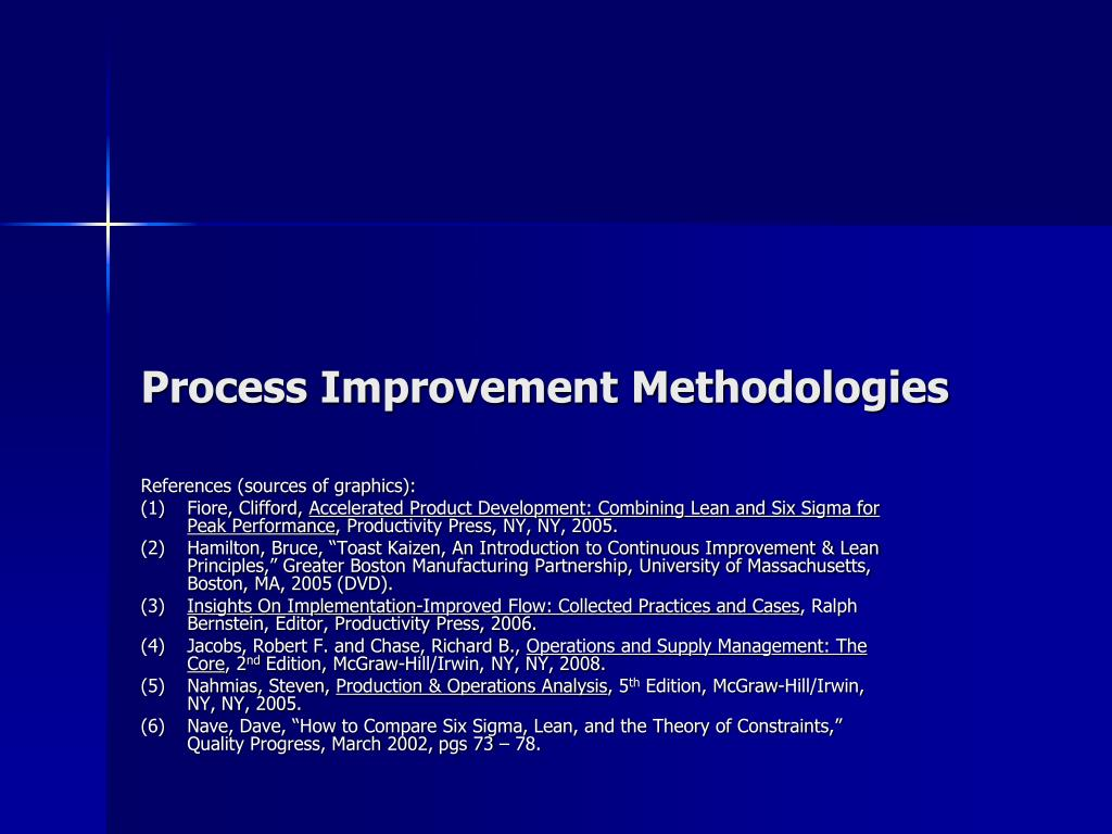 process improvement methodologies l.