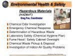 hazardous materials hazmat