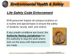 life safety code enforcement