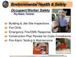 occupant worker safety