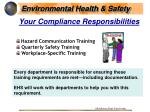 your compliance responsibilities
