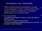 discharge by law impossibility