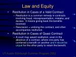 law and equity