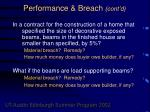 performance breach cont d