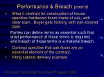 performance breach cont d50