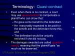 terminology quasi contract