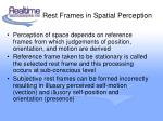 rest frames in spatial perception