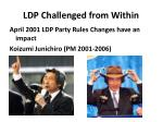ldp challenged from within