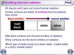 emitting thermal radiation