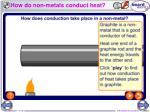 how do non metals conduct heat
