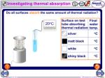 investigating thermal absorption