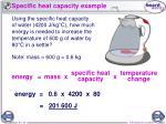 specific heat capacity example