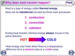 why does heat transfer happen