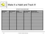 make it a habit and track it