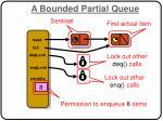 a bounded partial queue