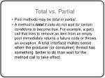 total vs partial