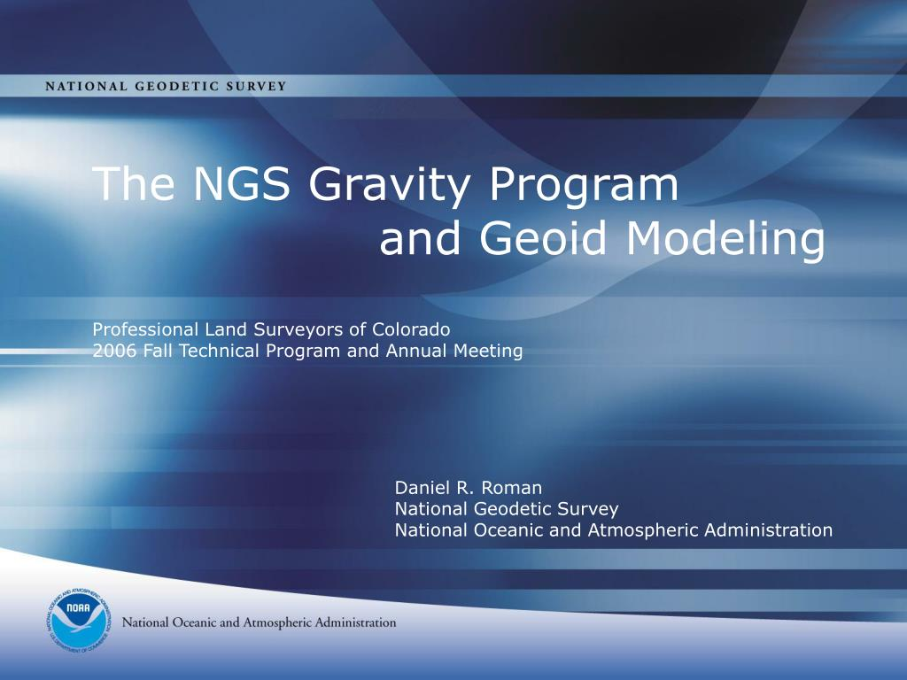 daniel r roman national geodetic survey national oceanic and atmospheric administration l.