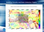 extent of gravity and data collection flights