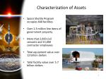 characterization of assets