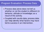 program evaluation process data12