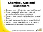 chemical gas and biosensors
