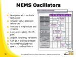 mems oscillators