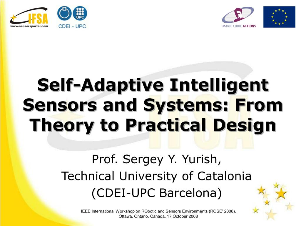 self adaptive intelligent sensors and systems from theory to practical design l.