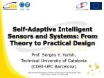 self adaptive intelligent sensors and systems from theory to practical design