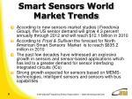 smart sensors world market trends
