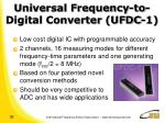 universal frequency to digital converter ufdc 1