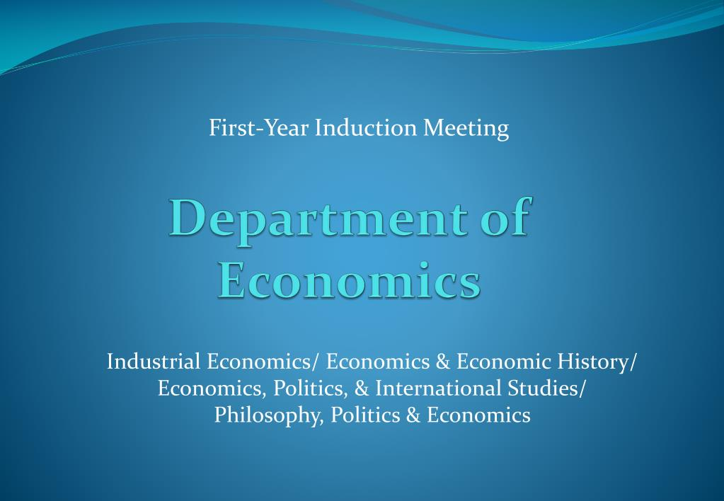 department of economics l.