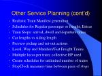 other service planning cont d