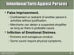 intentional torts against persons6