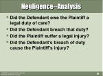 negligence analysis