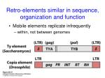 retro elements similar in sequence organization and function