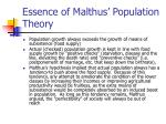 essence of malthus population theory