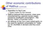 other economic contributions of malthus continued14
