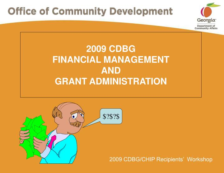 2009 cdbg financial management and grant administration n.