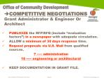 competitive negotiations grant administrator engineer or architect