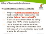 competitive negotiations