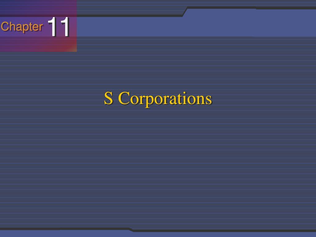 s corporations l.